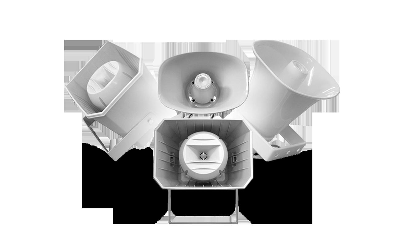 portada speakers home altavoces tipo corneta